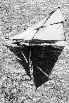 sailboat black and white