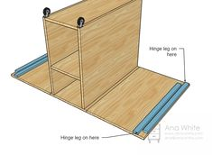 Ana White Build a A Sewing Table for Small Spaces Free and Easy DIY Project and Furniture Plans Diy Sewing Table, Sewing Machine Tables, Diy Table, Dining Table, Craft Tables, Sewing Room Organization, Craft Room Storage, Diy Storage, Craft Storage Ideas For Small Spaces
