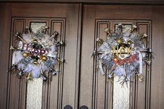 New Year Wreaths - double doors