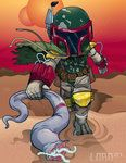 Lil Boba vs the Sarlacc by Lord Mesa originally posted on Deviant Art