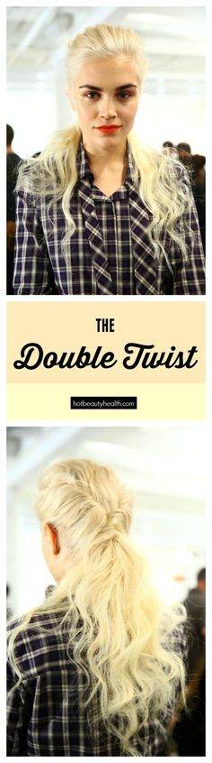 How-to Hairstyle: The Double Twist (click here for the full tutorial). A great wedding hair idea all women will love!
