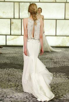 Brides: Open Back Wedding Dresses From The Fall 2015 Bridal Runways | Wedding Dresses Style