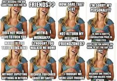 """The """"Friend-zone Fiona"""" meme, reworked. Men who complain about being friend-zoned show such ridiculous male privilege entitlement, it makes me sick. glad women fighting back against Nice Guy Syndrome What Is A Feminist, Intersectional Feminism, Equal Rights, Fight Club, New People, Social Justice, Human Rights, Oppression, Memes"""