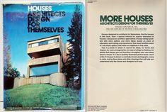"""Karin wydała nawet książkę, """"Houses Architects Design for Themselves"""" (McGraw-Hill 1974), ale chciała większej sławy... Na zdjęciu okładka jej dzieła oraz strona tytułowa kontynuacji książki, w której przygotowaniu już nie mogła uczestniczyć..."""