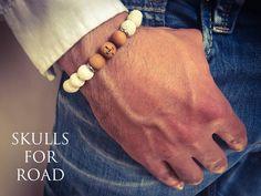 SFR white lava bracelet Lava Bracelet, Skull Bracelet, Bracelets, Skulls, Jewelry, Bangles, Jewlery, Jewels, Bracelet