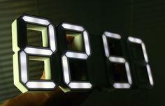 The White & White Clock designed by Vadim Kibardin is a modern interpretation of the traditional digital clock. Digital wall/desk white LED clock with white frame digits. Digital Clocks, Digital Wall, Led, Minimalist Clocks, White Lead, White White, White Wall Clocks, Wall Desk, Desk Clock