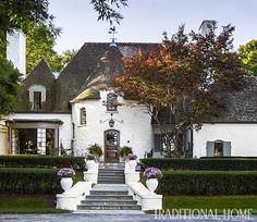 French-Tudor style exterior