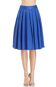 A-Line Pleated Midi Skirt--Perfect look for the classroom