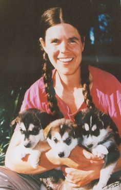 Susan Butcher (1954 - 2006) Sled dog racer, four time winner of the Iditarod (including a streak of three in a row)