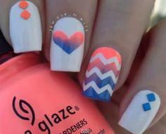 Aprenda a decorar suas unhas em zigue-zague - Site de Beleza e Moda