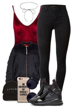 """""""Same Ol'"""" by pinkliquor-xo ❤ liked on Polyvore featuring Boohoo, adidas Originals, J Brand, Lilou, Casetify, The Row and Puma"""