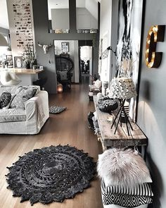 Cute living room - Decoration For Home Cute Living Room, Beautiful Living Rooms, Living Room Decor, Bedroom Decor, Classy Living Room, Decor Room, Living Room Grey, Living Area, Interior Design Living Room