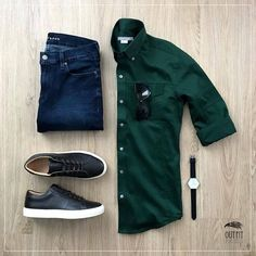men's fashion style outfit and outfit grids inspirations style grid for men fashion for men Fashion Mode, Denim Fashion, Komplette Outfits, Casual Outfits, Business Casual Men, Men Casual, Casual Chic, Casual Wear, Herren Outfit