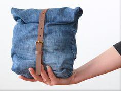 Upcycling DIY Anleitung: aus einer alten Jeans eine Tasche nähen // fashion diy: how to sew a jeans bag via DaWanda.com
