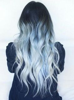 Looking for a surprising new hair color that's fit for any season? From blue pastel hair to cool shades of aqua, you'll love these light blue hair color ideas. Light Blue Hair, Hair Color Blue, Bright Hair, Grey Light, Icy Blue Hair, Blonde And Blue Hair, Dark Grey, Colored Hair, Pastel Blue Hair