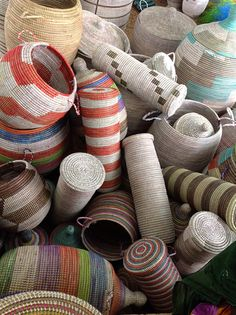 Admiring Baskets at a Market in Senegal | Swahili Modern