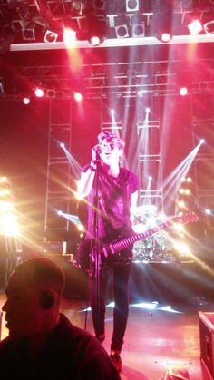 Luke on stage tonight