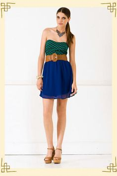 flowy green and blue summer dress (: I would so wear this outfit