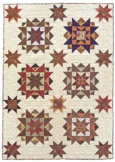Code: ISBN: 1564773639 Author: Sally Schneider Stitch a scrap quilt in a snap, in the size you need! Let popular scrap-quilt designer Sally Schneider teach you her savvy methods for collecting, coordinating, and stitching scraps into gorgeous quilt Star Quilt Blocks, Strip Quilts, Scrappy Quilts, Primitive Quilts, Antique Quilts, Quilting Projects, Quilting Designs, Civil War Quilts, Country Quilts