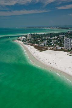 Aerial photo of Siesta Key, Sarasota, Florida, USA
