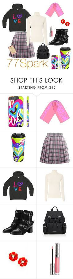 """""""Trending: Cute scarfs by 7/7 Park"""" by nashalymoe ❤ liked on Polyvore featuring Burberry, Kate Spade, By Terry and Korres"""