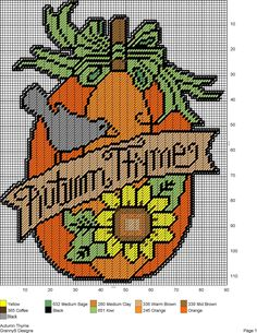 AUTUMN THYME by GrannyS Designs -- WALL HANGING