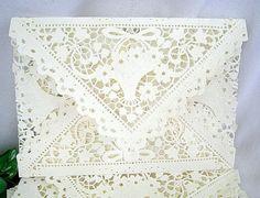 Vintage Inspired Doily Lace Envelopes Handmade by AllThingsAngelas, $44.99