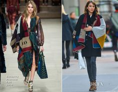 Alexa Chung In Burberry Prorsum - Out In New York City