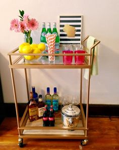 gold bar cart... from Target, believe it or not!
