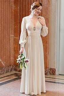 Trashy Diva 1940's Ivory Velvet Gown | Vintage Inspired Dress | Ivory Velvet