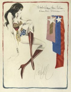 Original costume sketch for Wonder Woman TV series