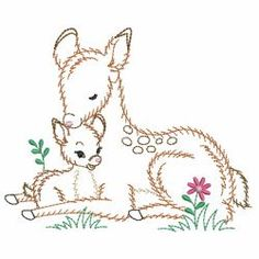 Vintage Mom And Baby Animals machine embroidery designs Silk Ribbon Embro. Vintage Mom And Hand Embroidery Patterns Free, Baby Embroidery, Embroidery Motifs, Embroidery Transfers, Vintage Embroidery, Machine Embroidery Designs, Border Embroidery, Embroidery Thread, Christmas Embroidery