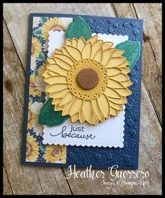 Sunflower Cards, Stamping Up Cards, Rubber Stamping, Stampin Up Catalog, Friendship Cards, Thing 1, Fall Cards, Christmas Cards, Baby Kind