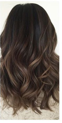Dark brown balayage Más