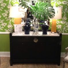 High Point Spring 2012-Black Lacquer Cabinet by Bungalow 5...So Chic!! Find it in Innerhall.