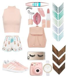 """""""pink🌸🌹🎀💕"""" by daisyhuijer on Polyvore featuring WearAll, New Look, adidas Originals, Fujifilm, Casetify, River Island, Rimmel, Jane Iredale, Maybelline and Lime Crime"""