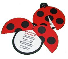 Lady Bug Birthday invites-I need to have a kid soon so I can throw a little kid lady bug party :)