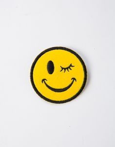 Make your jacket your own with this Winky Face Patch! We especially love it on a simple denim jacket! Mix it up with more than one patch or add more to really make it a one-of-a-kind piece! Makes a fun gift, too!