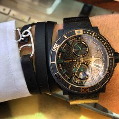 Our iconic UG leather triple strap avec our friend Ulises