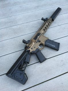 "300 Blackout suppressed SBR. Osprey .45 suppressor, Seekins Precision lower, Aero COP upper, 8.5"" rainier arms barrel."