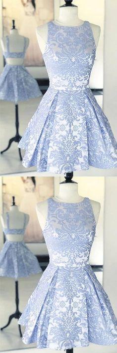 Short Open Back Blue Lace Prom Dresses, Short Blue Lace Formal Graduation Homecoming Dresses Blue Lace Prom Dress, Lace Homecoming Dresses, Short Lace Dress, Hoco Dresses, Blue Dresses, Graduation Dresses, Dance Dresses, Bridesmaid Dress, Ribbed Knit Dress