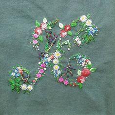 #프랑스자수 #알파벳자수#알파벳K#embroidery #handmade #꽃자수