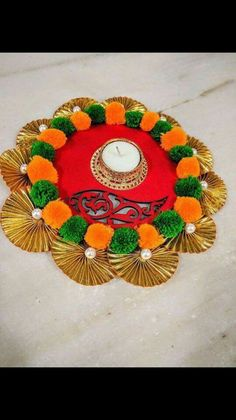 70 Best Ideas for party diy ideas decorations candle holders Arti Thali Decoration, Diwali Decoration Items, Diy Party Decorations, Festival Decorations, Handmade Decorations, Handmade Crafts, Diy And Crafts, Arts And Crafts, Diwali Diy