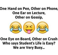 Hahaha yes we are very busy funny thoughts, funny images, funny pictures, twisted Funny School Jokes, Some Funny Jokes, Crazy Funny Memes, Really Funny Memes, Funny Facts, Hilarious, Exams Funny, Stupid Jokes, Random Facts