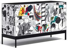 Comic Art Printed on Furniture