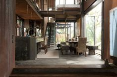 Very cool industrial style loft with a story. Grand Designs Australia, Australian Architecture, Australian Homes, Appartement Design, Building Design, Industrial Style, Furniture Decor, House Tours, Beautiful Homes
