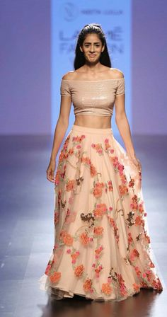By designer Neeta Lulla. Lakme Fashion Week, India Fashion, Asian Fashion, Fashion Suits, Fashion Weeks, Women's Fashion, Western Dresses, Indian Dresses, Indian Outfits