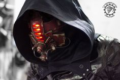 Red Tremor - Cyberpunk LED mask by TwoHornsUnited.deviantart.com on @DeviantArt