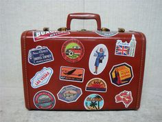 "SAMSONITE - 15"" Vintage Schwayder Bros. Small Overnight Hardcase Luggage #Samsonite"