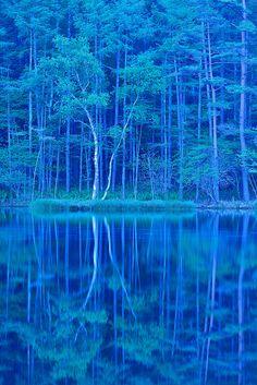 御射鹿池 Is this real? Beautiful World, Beautiful Places, Beautiful Pictures, Love Blue, New Blue, Le Grand Bleu, All Nature, Foto Art, Blue Aesthetic